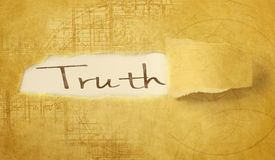 Word truth. Written under torn paper Royalty Free Stock Image