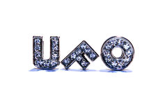 Word UFO on white background Royalty Free Stock Images