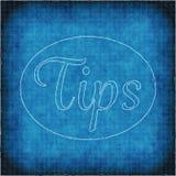 Word Uiteinden op de Blauwe Achtergrond die van de Blauwdrukstijl worden omcirkeld royalty-vrije illustratie