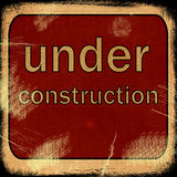 Word  UNDER construction Royalty Free Stock Images