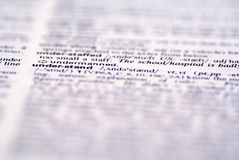 A word 'understand' in dictionary. Dictionary with 'understand' word in focus stock photos