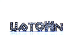 Word UPTOWN on white background Royalty Free Stock Images