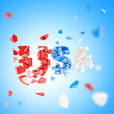 Word USA crashed abstract composition Royalty Free Stock Photography