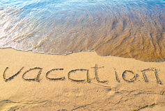 Vacation on sand Royalty Free Stock Photos