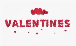 Word valentijnskaarten van kleine harten Royalty-vrije Stock Foto's