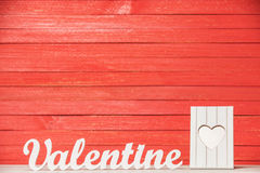 Word Valentine and frame Stock Images