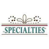 Word van de specialiteitenkopbal Tekstontwerp Stock Foto's