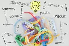 Word van het creativiteitconcept Wolk Stock Foto