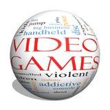 Word van het videospelletjes 3d gebied Wolkenconcept Stock Afbeelding