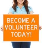 Word vandaag een Vrijwilliger Royalty-vrije Stock Afbeelding