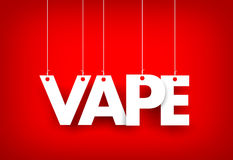 Word Vape hanging on red background. 3d illustration Royalty Free Stock Photos