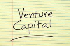 Venture Capital On A Yellow Legal Pad Stock Photography