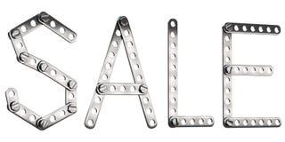 Word Verkoop van metallconstruktor die wordt gemaakt Royalty-vrije Stock Foto's