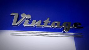 The word Vintage written in retro style stock footage