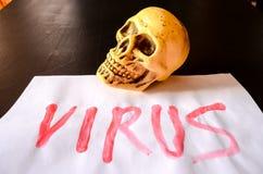 Word Virus Text Stock Image
