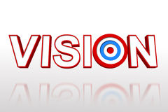 The word vision with target Stock Photography