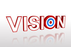 The word vision with target Royalty Free Stock Image