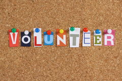 The word Volunteer stock images