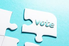 The Word Vote In Missing Piece Jigsaw Puzzle royalty free stock photos