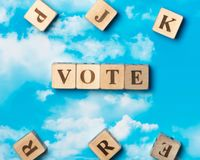 The word Vote stock image