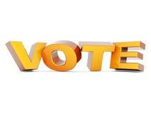 Word Vote Stock Photography