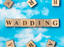 The word wadding Stock Image