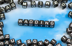 The word wadding Stock Photos