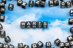 The word Warts Royalty Free Stock Photos
