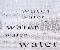The word Water Royalty Free Stock Photos
