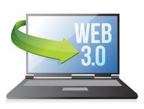 Word Web 3.0 on a laptop, seo concept Stock Photos