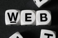 Word web on toy cubes Royalty Free Stock Images