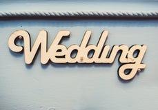 Word wedding Stock Image
