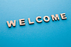 Word Welcome on blue background Royalty Free Stock Photography