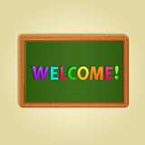 Word Welcome Composed From colorful Magnets Royalty Free Stock Images
