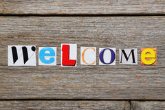 The word Welcome Stock Photography