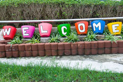 Word for welcome Stock Photography