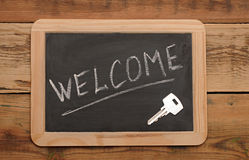Word welcome and key Royalty Free Stock Images