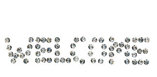 Word  Welcome  made by ​​with rhinestones, Royalty Free Stock Images