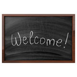 Word Welcome Written On Blackboard Royalty Free Stock Images