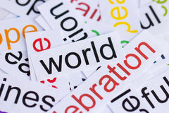 Word wereld Stock Foto