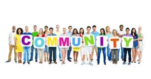 Word wereld van de Bedrijfsmensenholding Gemeenschap Stock Foto's