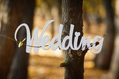 Word white wedding Royalty Free Stock Images