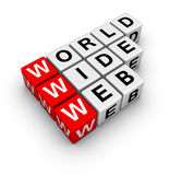 Word wide web. (from crossword series Royalty Free Stock Image