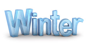 Word Winter from ice Stock Photography