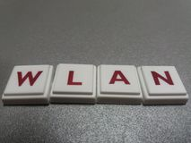 The word wlan made up of letters Royalty Free Stock Photography