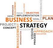 Word wolk - bedrijfsstrategie Stock Afbeeldingen