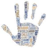 Word wolk met betrekking tot Werelddag tegen Kinderarbeid Royalty-vrije Stock Fotografie