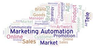 Word wolk met tekst Marketing Automatisering royalty-vrije illustratie