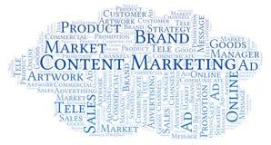 Word wolk met tekstinhoud Marketing vector illustratie