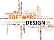 Word wolk - softwareontwerp Stock Afbeeldingen